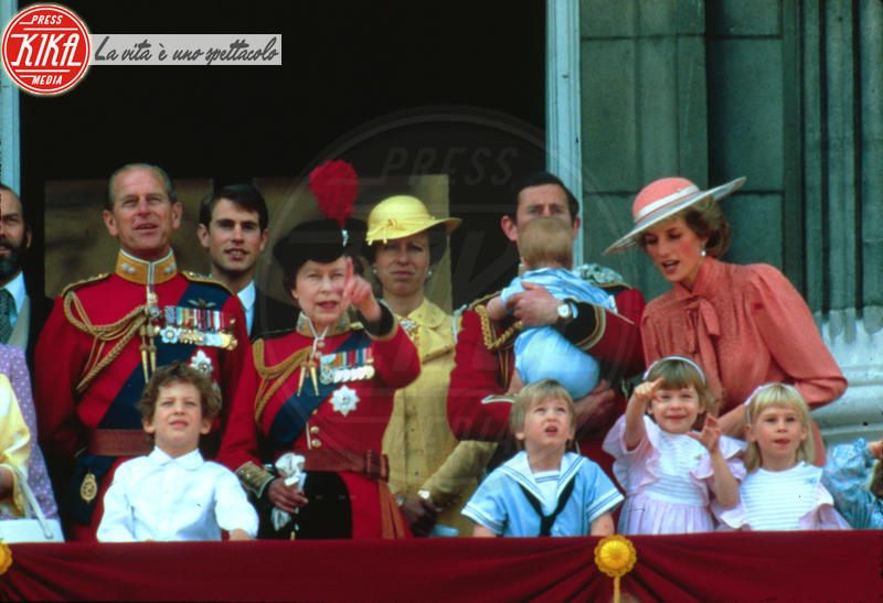 Principe Carlo d'Inghilterra, Principessa Anna d'Inghilterra, Regina Elisabetta II, Principe William, Principe Filippo Duca di Edimburgo, Lady Diana, Principe Harry - 10-06-1984 - Principe Harry: i 30 anni dello scapolo più ambito al mondo
