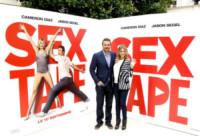 Jason Segel, Cameron Diaz - Parigi - 04-09-2014 - Cameron Diaz e Jason Segel a Parigi per Sex Tape