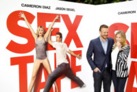 Jason Segel, Cameron Diaz - Parigi - 04-09-2014 - Cameron Diaz e Jason Segel a Parigi per Sex Tape