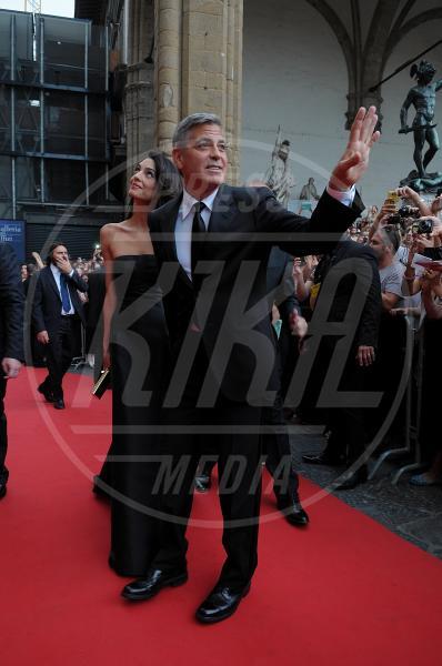 Amal Alamuddin, George Clooney - Firenze - 07-09-2014 - Italia: per i vip stranieri è la terra delle promesse