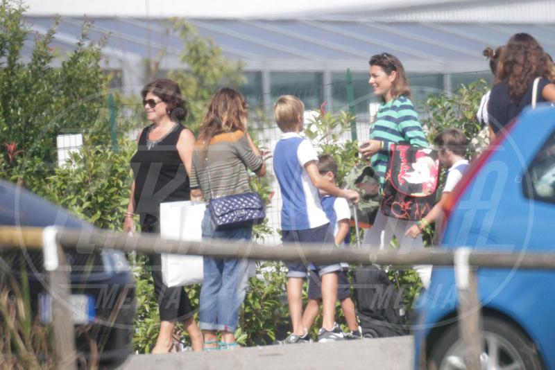 David Lee Buffon, Louis Thomas Buffon, Alena Seredova - Torino - 08-09-2014 - Alena Seredova: che bello il mestiere di mamma