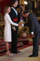 Emilio Botin, Re Filippo VI di Spagna, Letizia Ortiz - Madrid - 19-06-2014 - Morto a Madrid Emilio Botin, banchiere e sponsor della Ferrari