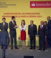 Emilio Botin, Re Felipe di Borbone, Letizia Ortiz - Madrid - 12-02-2013 - Morto a Madrid Emilio Botin, banchiere e sponsor della Ferrari