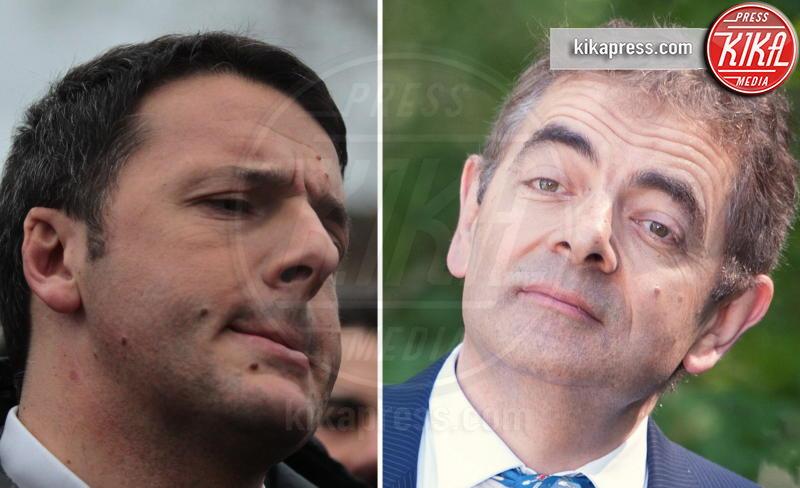Matteo Renzi, Rowan Atkinson - Firenze - 07-02-2014 - Separati alla nascita: le star e i loro cloni