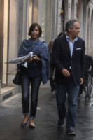 Alessandro Ruben, Mara Carfagna - Milano - 19-09-2014 - Star come noi: la pioggia non guarda in faccia a nessuno