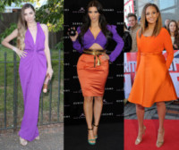 Alesha Dixon, Amber Le Bon, Kim Kardashian - 25-09-2014 - Viola o arancione? È questo il dilemma… per Halloween!