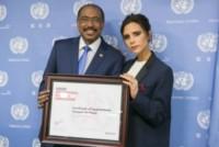 Michel Sidibe, Victoria Beckham - New York - 25-09-2014 - Donne per un mondo migliore: Victoria Beckham ambasciatrice ONU