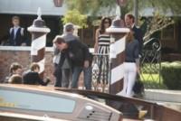 Nina Bruce, Amal Alamuddin, Rande Gerber, Cindy Crawford, George Clooney - Venezia - 26-09-2014 - Matrimonio Clooney-Amal: l'arrivo al Cipriani
