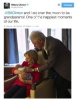Charlotte Mezvinsky, Hillary Clinton, Bill Clinton - Washington - 28-09-2014 - Chelsea Clinton è mamma bis: è nato Aidan!