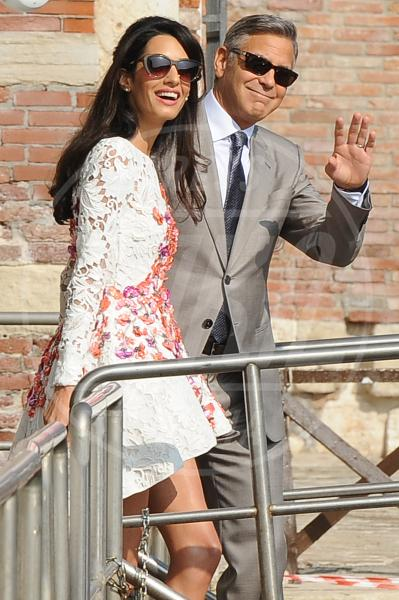 Amal Alamuddin, George Clooney - Venezia - 28-09-2014 - George Clooney pensa alla Casa Bianca