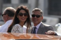 Amal Alamuddin, George Clooney - Venezia - 28-09-2014 - Clooney, multa per chi si avvicina a Villa Oleandra