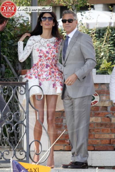 Amal Alamuddin, George Clooney - Venezia - 28-09-2014 - Amal Clooney si è lasciata il sorriso alle spalle...