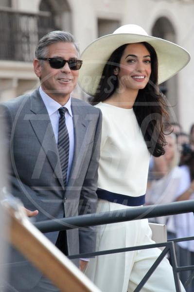 Amal Alamuddin, George Clooney - Venezia - 29-09-2014 - Clooney, multa per chi si avvicina a Villa Oleandra
