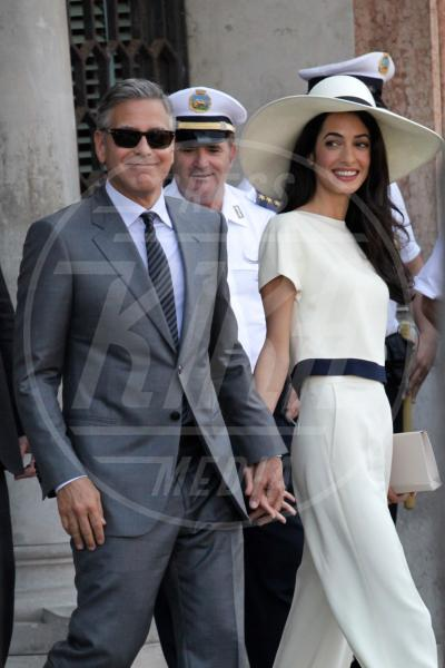 Amal Alamuddin, George Clooney - Venezia - 29-09-2014 - Amal Alamuddin e Chloe Grace Moretz: chi lo indossa meglio?