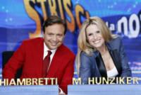 Piero Chiambretti, Michelle Hunziker - Milano - 29-09-2014 - Michelle Hunziker e Belen, la nuova coppia di Striscia