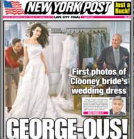 Amal Alamuddin, George Clooney - 30-09-2014 - Amal e George: Hello! e People svelano l'abito della sposa