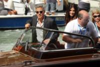 Alessandro Greco, Sandra Bullock, George Clooney - Venezia - 01-10-2014 - Sandrone, motoscafista dei VIP e testimone di George Clooney