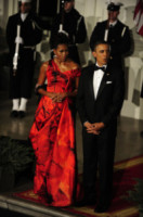 Michelle Obama, Barack Obama - Washington - 19-01-2011 - Vuoi essere vincente? Vestiti di rosso