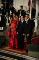 Hu Jintao, Michelle Obama, Barack Obama - Washington - 19-01-2011 - Amal Alamuddin e Michelle Obama: chi lo indossa meglio?