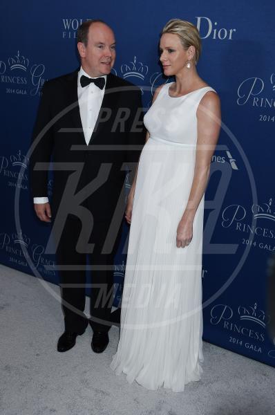 Prince Albert II of Monaco, Principessa Charlene Wittstock - Beverly Hills - 08-10-2014 - Il pancione è sempre più sexy sul red carpet!