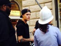 Justin Bieber - Firenze - 06-10-2014 - Justin Bieber fermato dai vigili a Firenze
