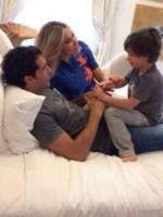 Giacomo Corradi, Bernardo Corradi, Elena Santarelli - Milano - 15-10-2014 - Mammo son tanto felice, il lato paterno dei vip