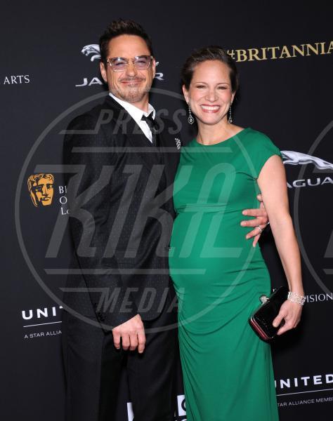 Susan Downey, Robert Downey Jr - Beverly Hills - 30-10-2014 - Emma Watson ruba la scena a tutti ai BAFTA Awards 2014