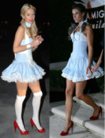 Elisabetta Canalis, Paris Hilton - 31-10-2014 - Paris Hilton ed Elisabetta Canalis: chi lo indossa meglio?