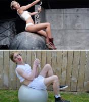 Liam Martin, Miley Cyrus - Hollywood - 10-11-2014 - Liam Martin: l'imitatore delle trash-star fa boom sul web