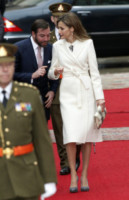Principe Guglielmo di Lussemburgo, Letizia Ortiz - Lussemburgo - 11-11-2014 - En pendant con l'inverno con un cappotto bianco