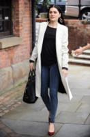 Jessie J - Manchester - 25-09-2014 - En pendant con l'inverno con un cappotto bianco