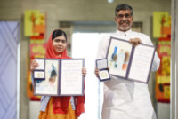 Kailash Satyarthi, Malala Yousafzai - Oslo - 10-12-2014 - Malala, la più giovane Premio Nobel raccontata in tv
