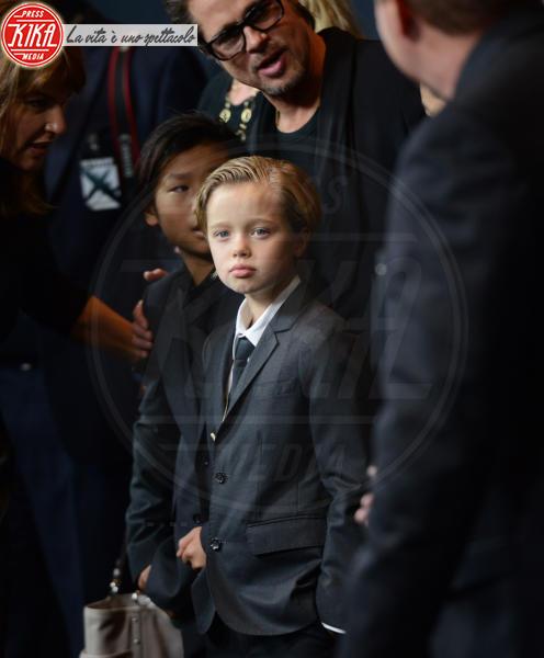 Shiloh Jolie Pitt, Pax Thien Jolie Pitt, Brad Pitt - Hollywood - 16-12-2014 - Brad Pitt: