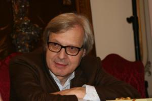 Vittorio Sgarbi - Napoli - 20-12-2014 - Sgarbi dà della capra alla Boldrini:
