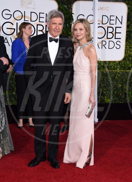 Harrison Ford, Calista Flockhart - Beverly Hills - 12-01-2015 - Golden Globe 2015: va in scena il gioco delle coppie