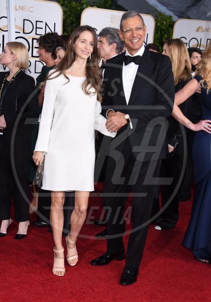 Jeff Goldblum - Beverly Hills - 12-01-2015 - Golden Globe 2015: va in scena il gioco delle coppie