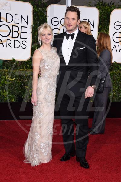 Anna Faris, Chris Pratt - Beverly Hills - 11-01-2015 - Golden Globe 2015: va in scena il gioco delle coppie