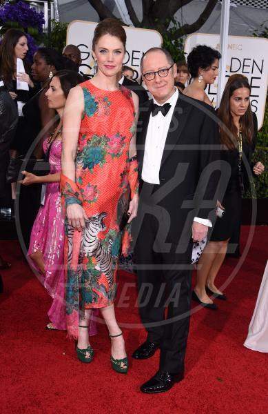 James Spader - Beverly Hills - 11-01-2015 - Golden Globe 2015: va in scena il gioco delle coppie