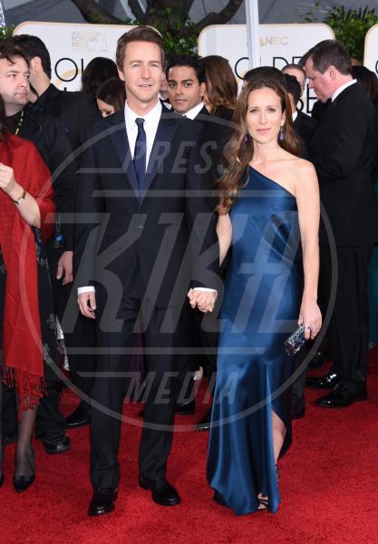 Edward Norton - Beverly Hills - 11-01-2015 - Golden Globe 2015: va in scena il gioco delle coppie