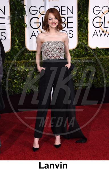 Emma Stone - Beverly Hills - 11-01-2015 - Golden Globe 2015: gli stilisti sul red carpet