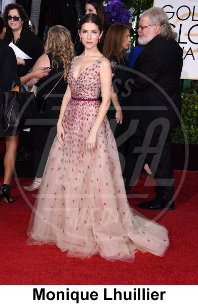 Anna Kendrick - Beverly Hills - 11-01-2015 - Golden Globe 2015: gli stilisti sul red carpet