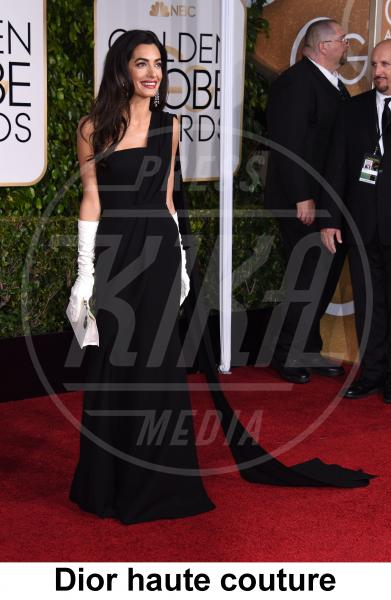 Amal Alamuddin - Beverly Hills - 11-01-2015 - Golden Globe 2015: gli stilisti sul red carpet