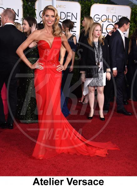 Heidi Klum - Beverly Hills - 11-01-2015 - Golden Globe 2015: gli stilisti sul red carpet