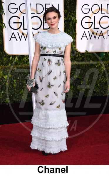Keira Knightley - Beverly Hills - 11-01-2015 - Golden Globe 2015: gli stilisti sul red carpet