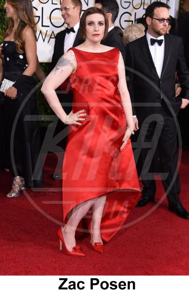 Lena Dunham - Beverly Hills - 11-01-2015 - Golden Globe 2015: gli stilisti sul red carpet