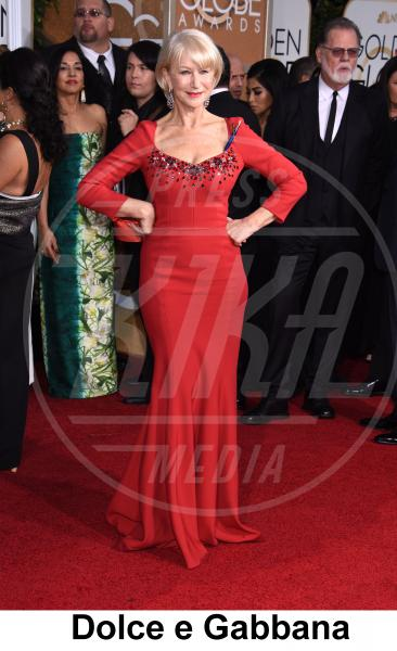 Helen Mirren - Beverly Hills - 11-01-2015 - Golden Globe 2015: gli stilisti sul red carpet