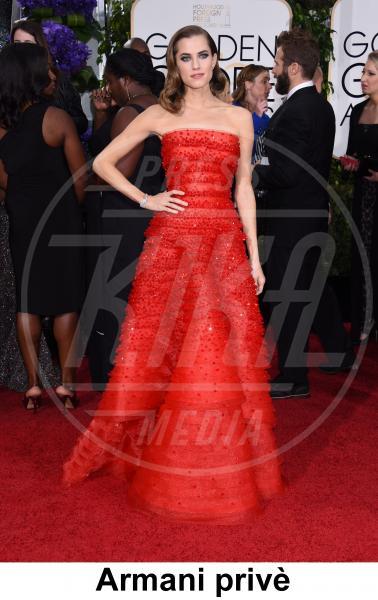 Allison Williams - Beverly Hills - 11-01-2015 - Golden Globe 2015: gli stilisti sul red carpet