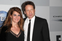Nia Vardalos, David Duchovny - Los Angeles - 12-01-2015 - Golden Globes 2015: il party della NBC