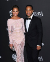 Chrissy Teigen, John Legend - Beverly Hills - 11-01-2015 - Golden Globes 2015: il party di InStyle