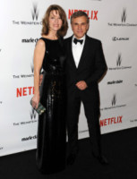 Judith Holste, Christoph Waltz - Beverly Hills - 11-01-2015 - Golden Globes 2015: il party di Netflix